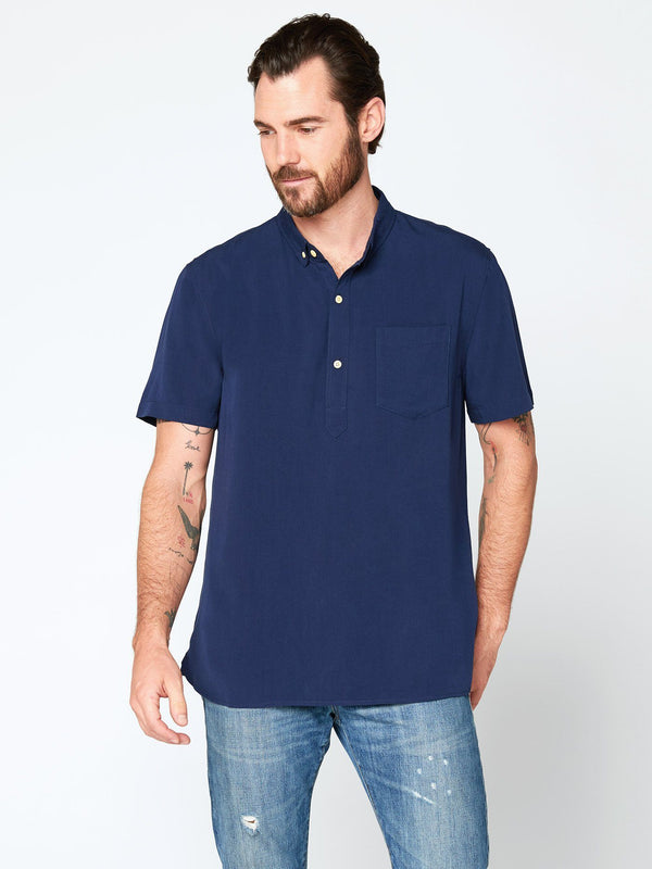 Leo Short Sleeve Popover Mens Tops Threads 4 Thought S Raw Denim