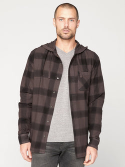 Schuyler Button-Up Hoodie Mens Tops Threads 4 Thought S Oxide