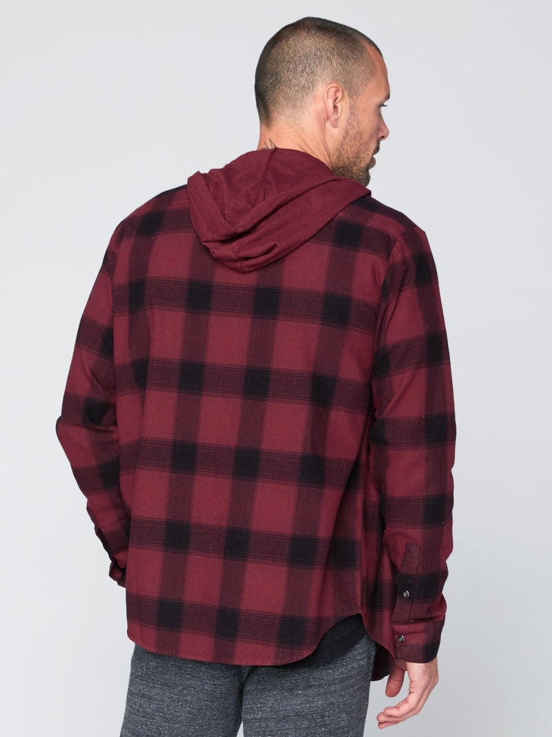 Schuyler Button-Up Hoodie Mens Tops Threads 4 Thought