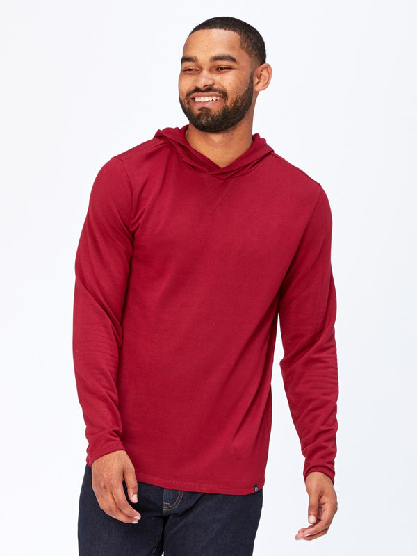 Jackson Feather Fleece Hoodie Mens Outerwear Sweatshirt Threads 4 Thought S Deep Burgundy