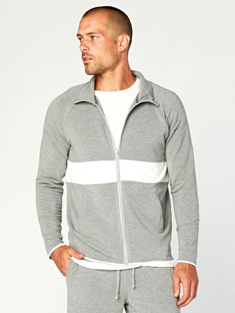 Gideon Track Jacket Mens Outerwear Jacket Threads 4 Thought S Heather Grey