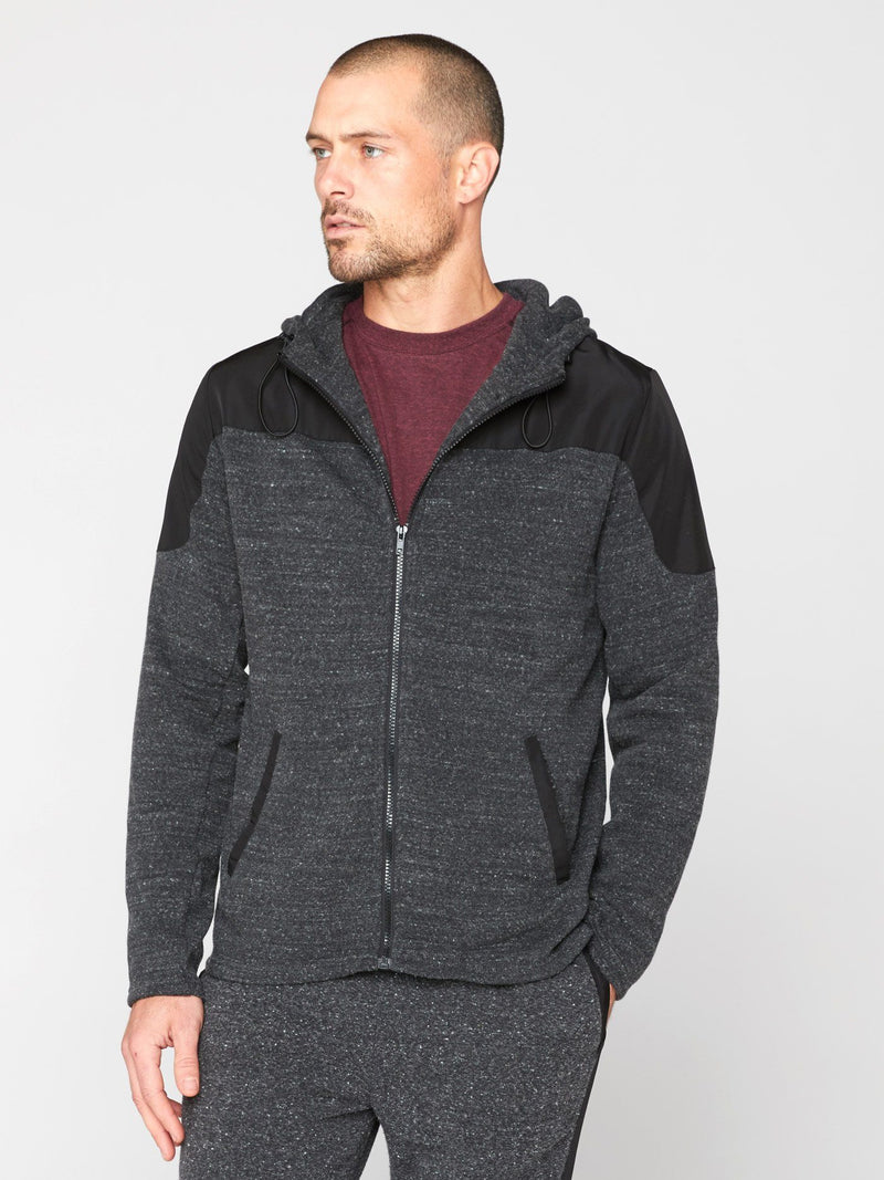 Dalton Active Hoodie Mens Outerwear Sweatshirt Threads 4 Thought S Heather Black