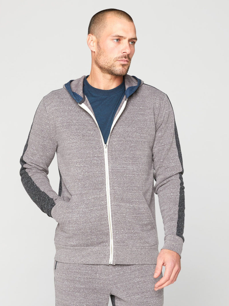 Oscar Zip Hoodie Mens Outerwear Sweatshirt Threads 4 Thought S Heather Grey