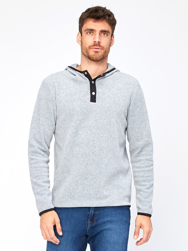 Nichols Fleece Henley Hoodie Mens Outerwear Sweatshirt Threads 4 Thought S Heather Grey