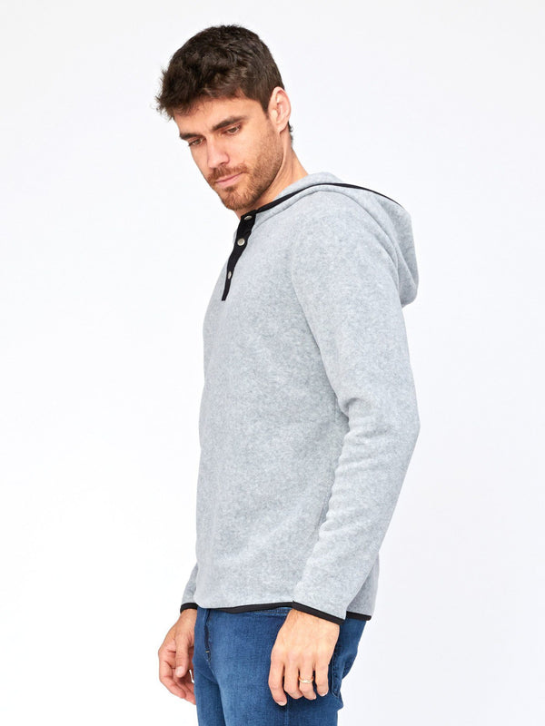 Nichols Fleece Henley Hoodie Mens Outerwear Sweatshirt Threads 4 Thought