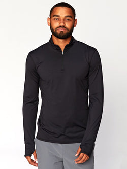 Brennan Mock Neck Base Layer Mens Tops Threads 4 Thought S Jet Black