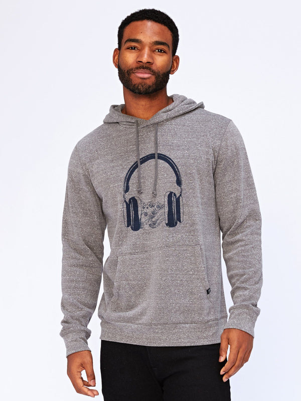 Sound Waves Graphic Hoodie Mens Outerwear Sweatshirt Threads 4 Thought