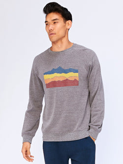 Wave Graphic Sweatshirt Mens Outerwear Sweatshirt Threads 4 Thought