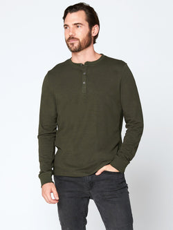 Triblend Henley Mens Tops Threads 4 Thought S Rosin