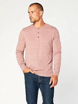 Triblend Henley Mens Tops Threads 4 Thought S Brick Red