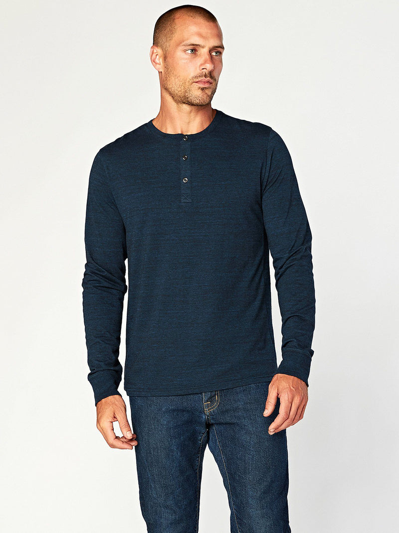 Triblend Henley Mens Tops Threads 4 Thought S Midnight