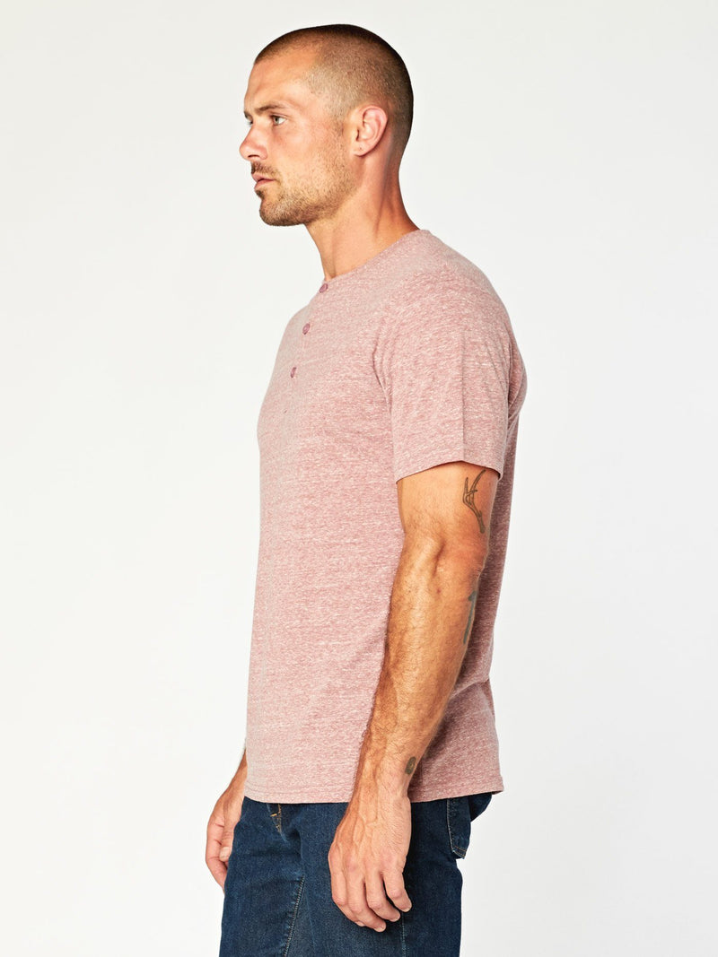 Baseline Triblend Henley Mens Tops Threads 4 Thought