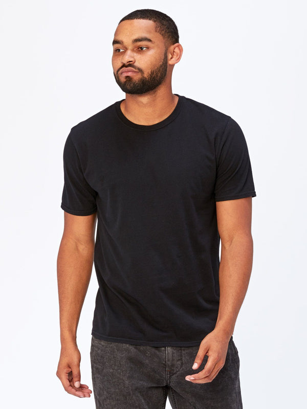 Standard Crew Neck Tee Mens Tops Threads 4 Thought S Black