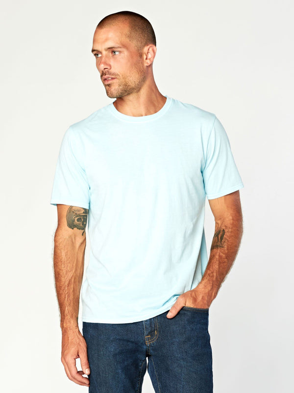 Standard Crew Neck Tee Mens Tops Threads 4 Thought S Cornflower