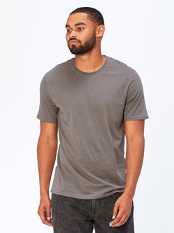 Standard Crew Neck Tee Mens Tops Threads 4 Thought S Quiet Shade