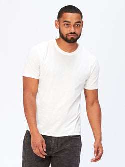 Standard Crew Neck Tee Mens Tops Threads 4 Thought S White