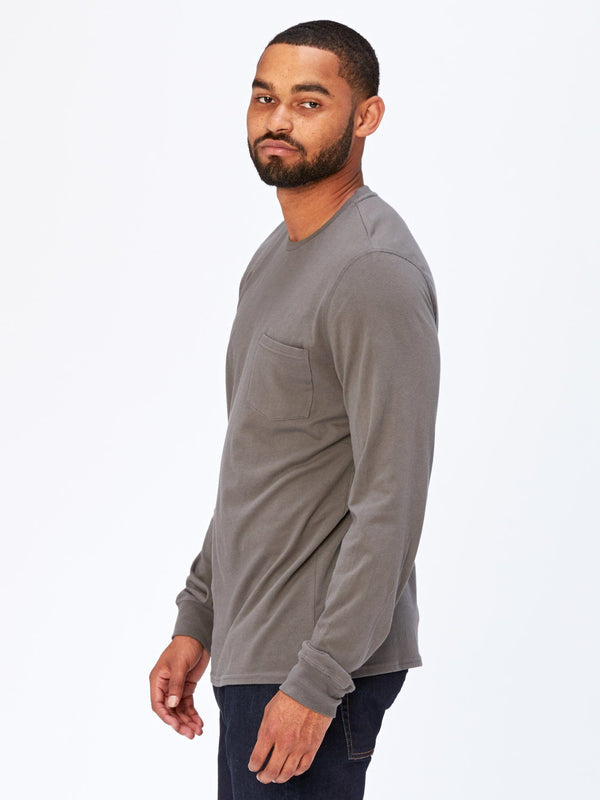 Standard Long Sleeve Pocket Tee Mens Tops Threads 4 Thought