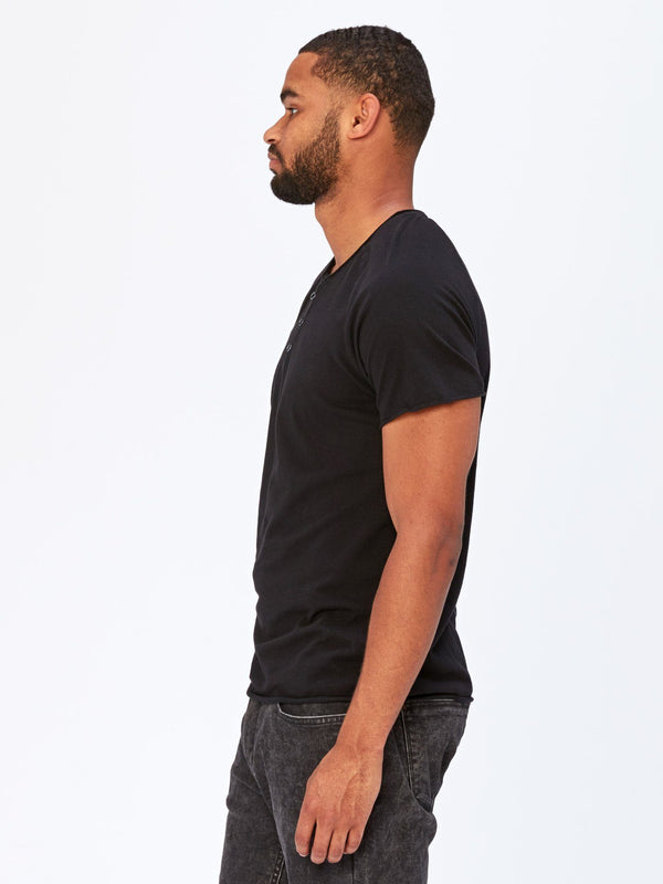 Standard Short Sleeve Henley Mens Tops Threads 4 Thought