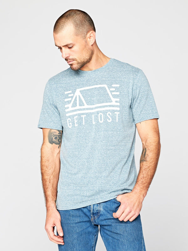 Get Lost Tee Mens Tops Threads 4 Thought S Dark Spruce