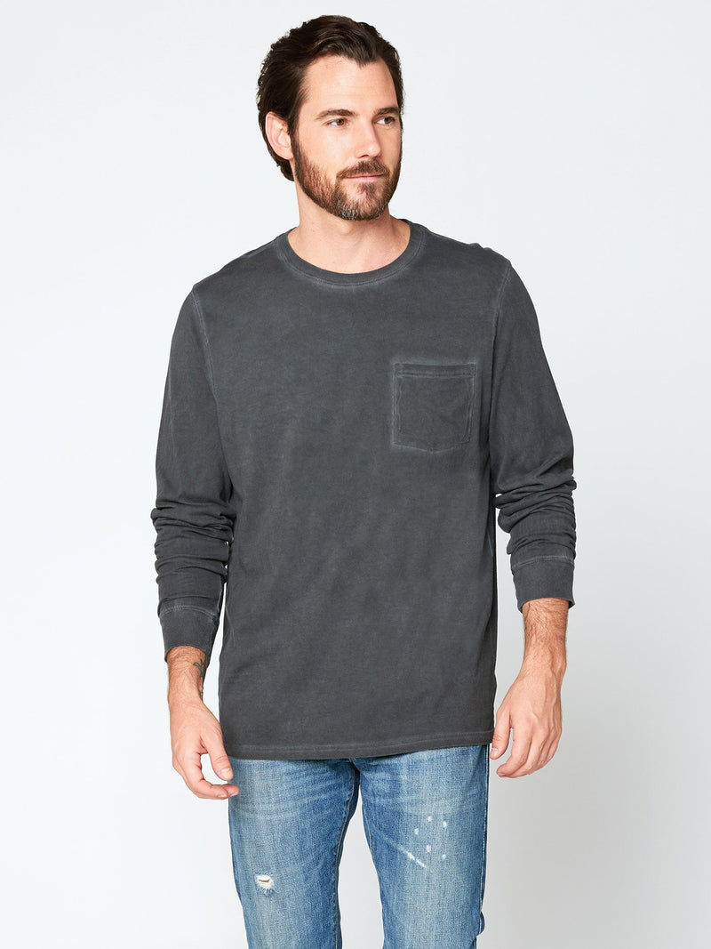 Rain Wash Long Sleeve Tee Mens Tops Threads 4 Thought S Black
