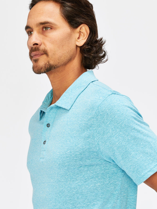 Triblend James Polo Mens Tops Threads 4 Thought