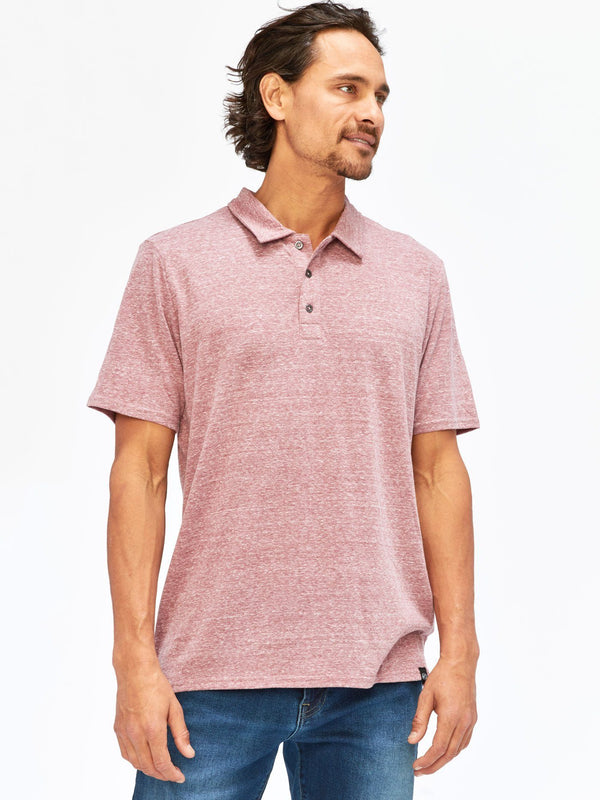 Triblend James Polo Mens Tops Threads 4 Thought S Brick Red