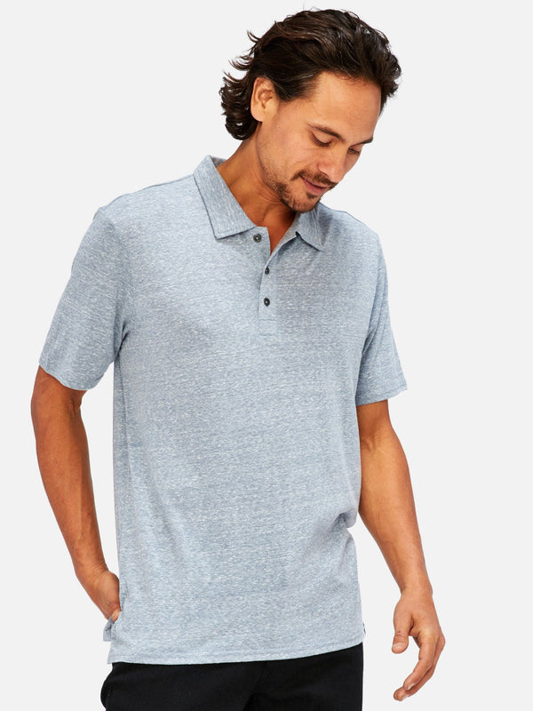 Triblend James Polo Mens Tops Threads 4 Thought S China Blue