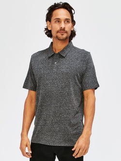 Triblend James Polo Mens Tops Threads 4 Thought S Heather Black