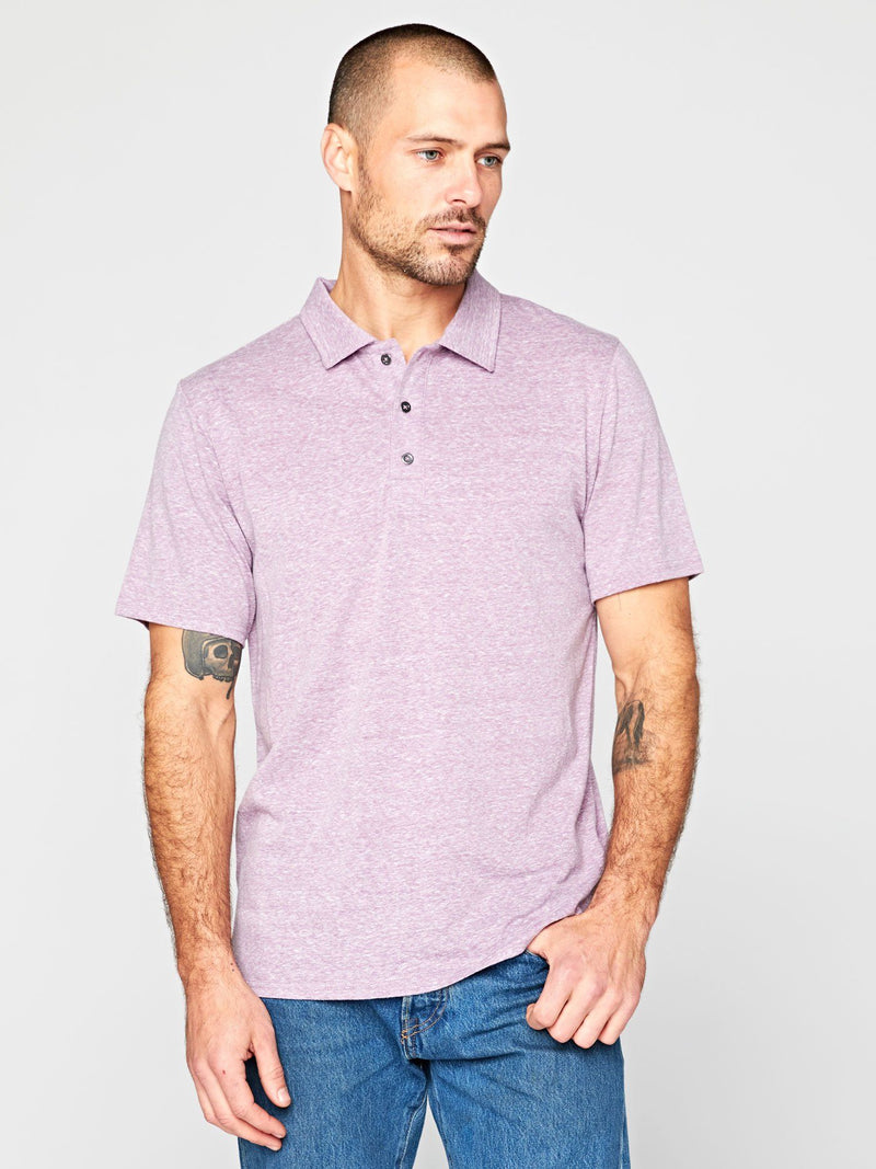 Triblend James Polo Mens Tops Threads 4 Thought S Lavender