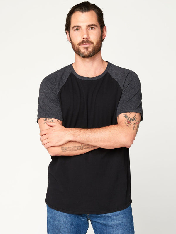 Contrast Raglan Tee Mens Tops Threads 4 Thought S Black