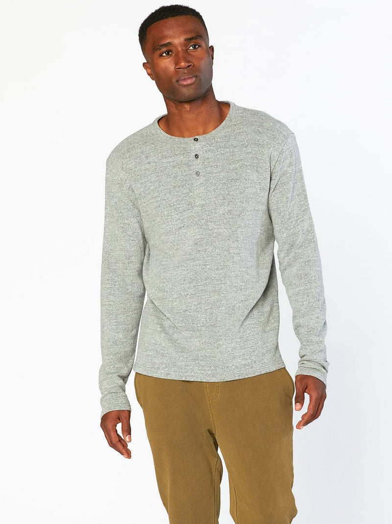 Cannon Sweater Henley Mens Tops Threads 4 Thought S Charcoal