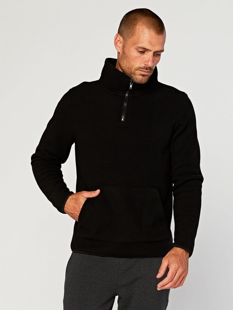 Pershing Half-Zip Mens Outerwear Sweater Threads 4 Thought S Black