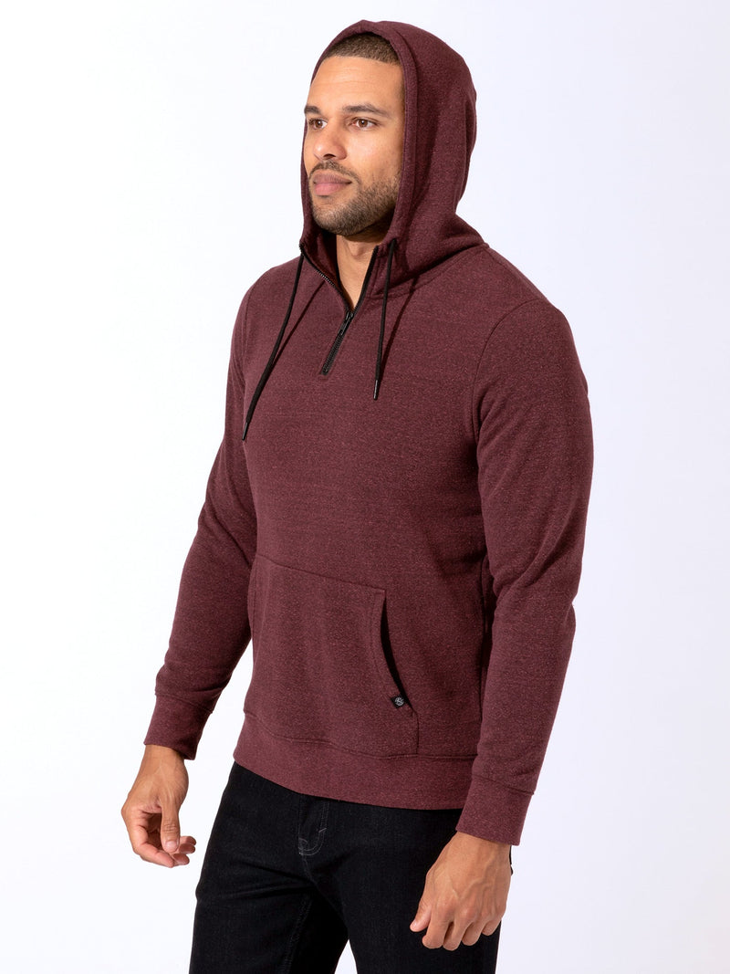 Triblend Breton Half Zip Hoodie Mens Outerwear Sweatshirt Threads 4 Thought