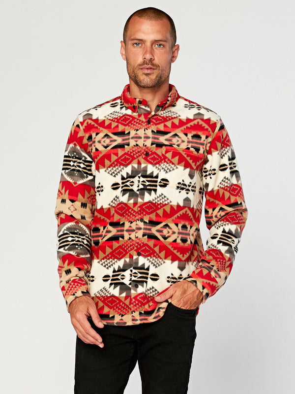 Printed Fleece Shirt