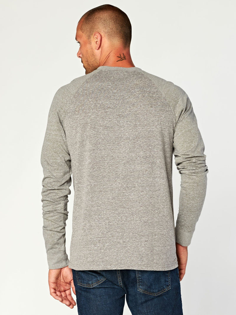 Triblend Colorblock Long Sleeve Crew Mens Tops Threads 4 Thought