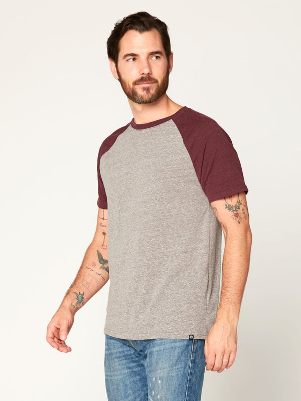 Triblend Colorblock Short Sleeve Crew Tee Mens Tops Threads 4 Thought