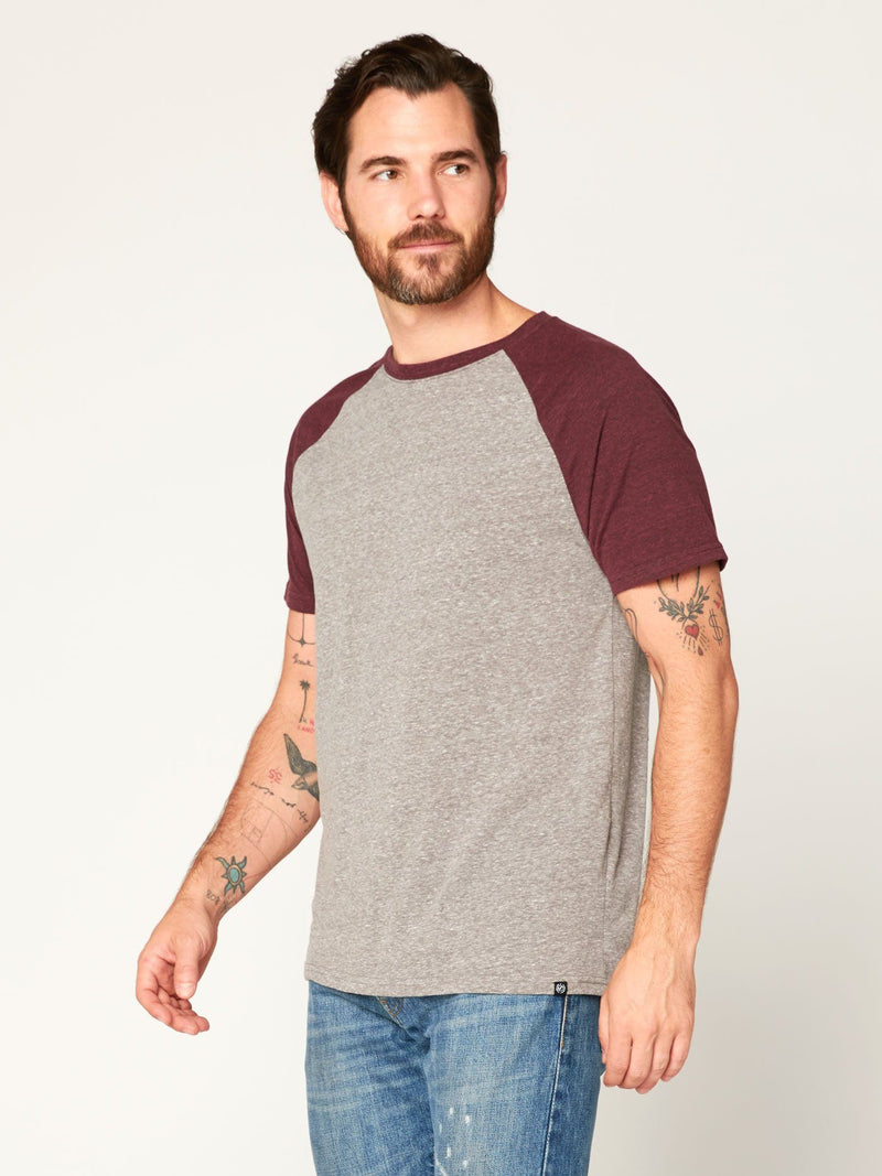 Triblend Colorblock Short Sleeve Crew Tee