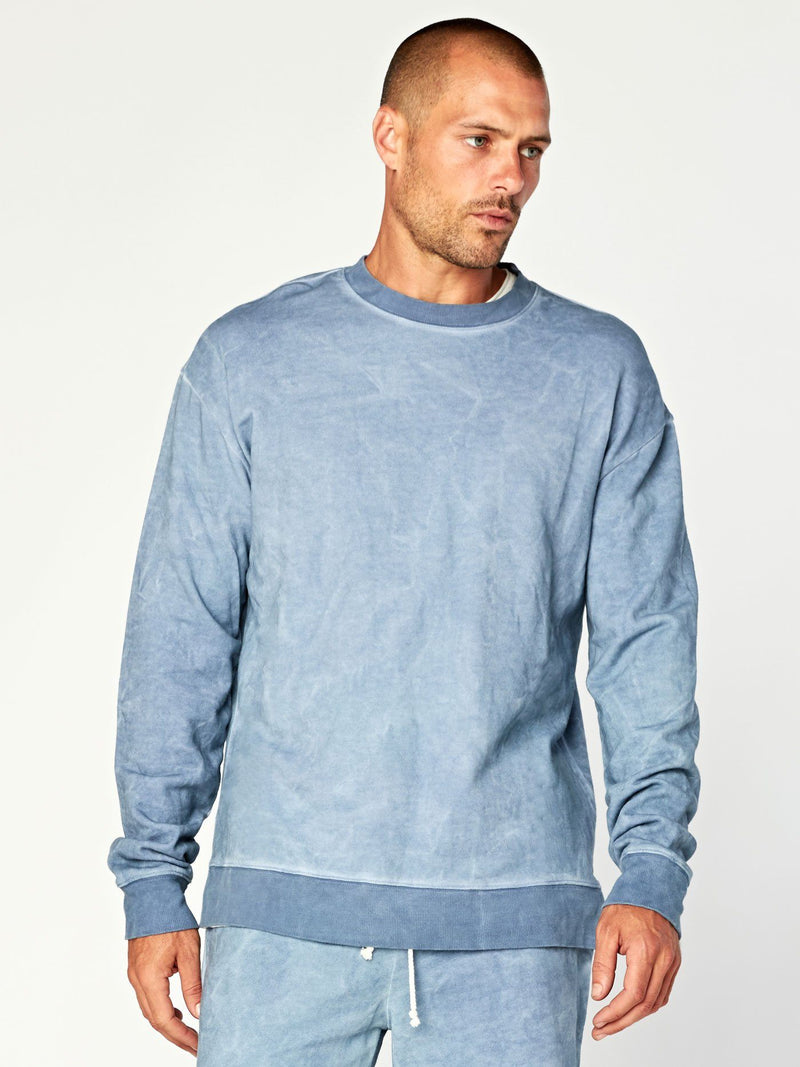 Boone Terry Pullover Mens Outerwear Sweatshirt Threads 4 Thought S Chambray