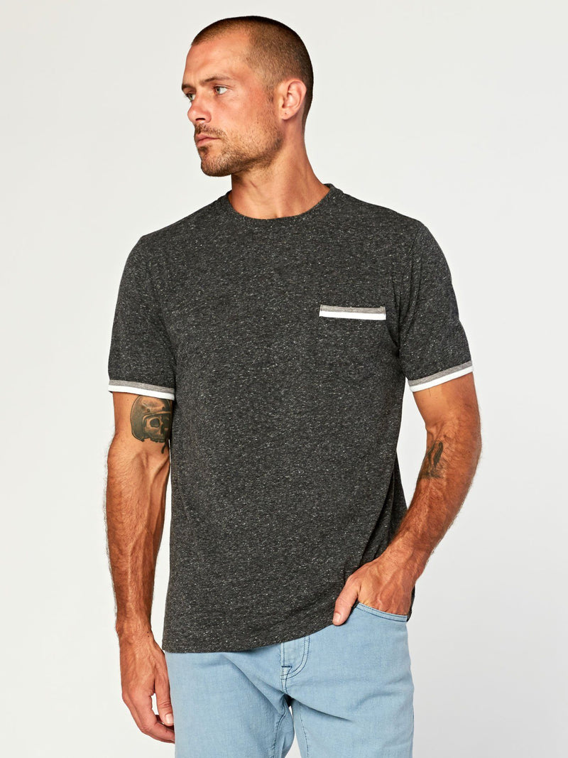 Laramie Triblend Pocket Tee Mens Tops Threads 4 Thought S Heather Black