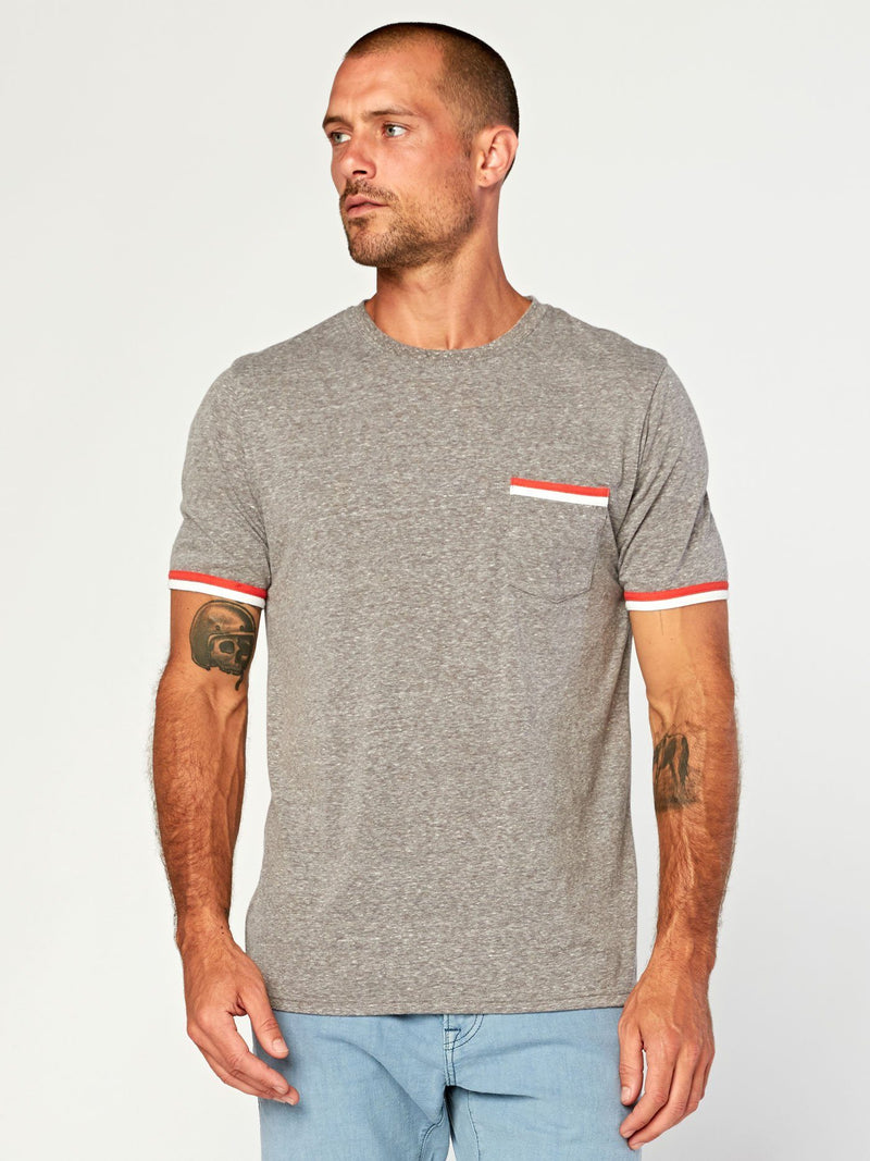 Laramie Triblend Pocket Tee Mens Tops Threads 4 Thought S Heather Grey