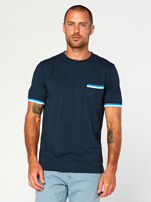 Laramie Triblend Pocket Tee Mens Tops Threads 4 Thought S Midnight