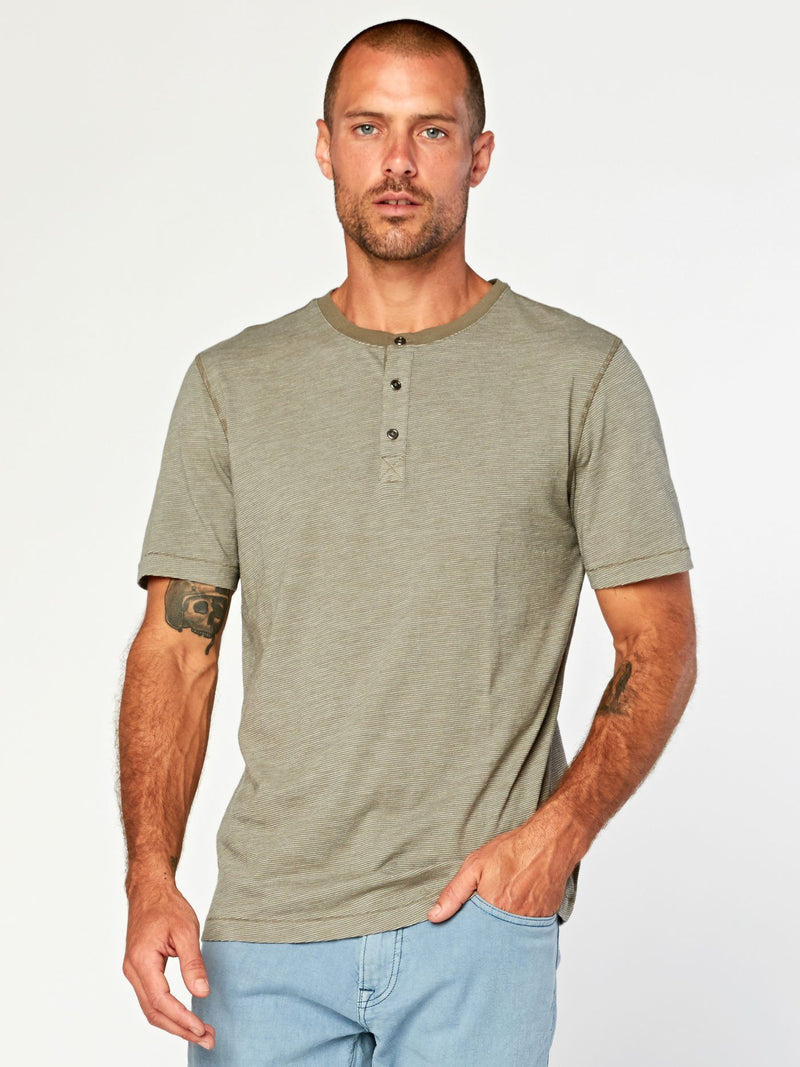 Geoff Slub Henley Mens Tops Threads 4 Thought S Artichoke/Natural
