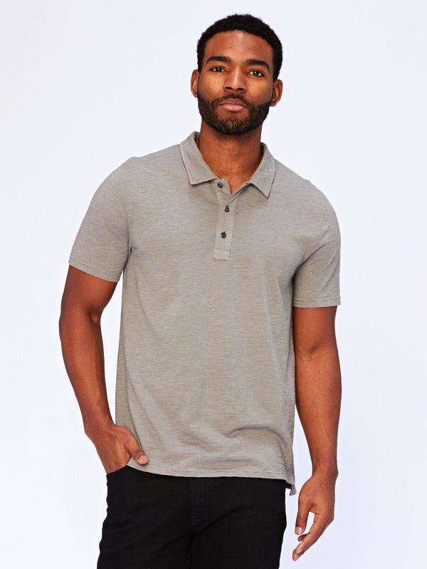 Earl Slub Polo Mens Tops Threads 4 Thought S Raw Denim/Natural
