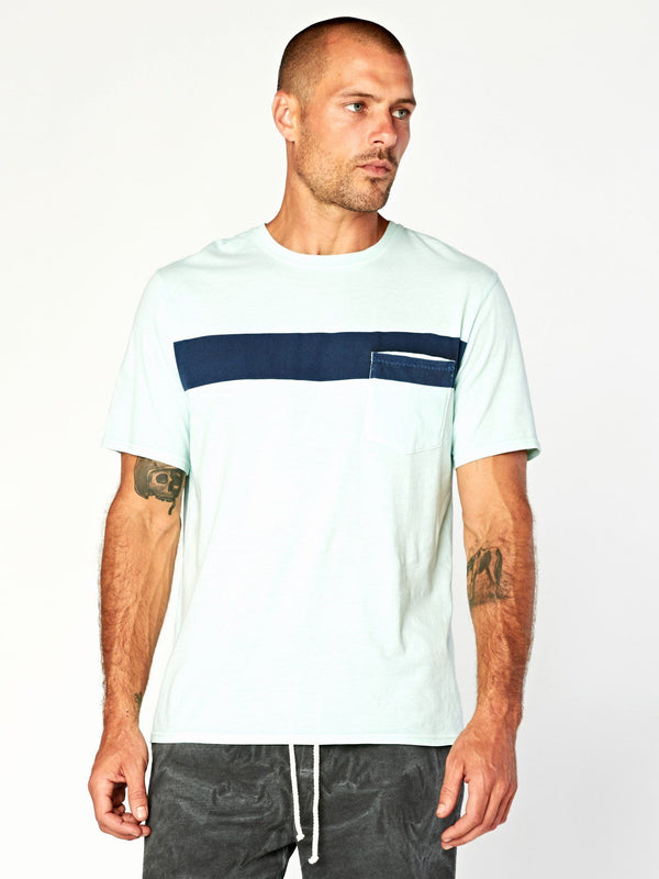 Laramie Bold Stripe Pocket Tee Mens Tops Threads 4 Thought S Spa