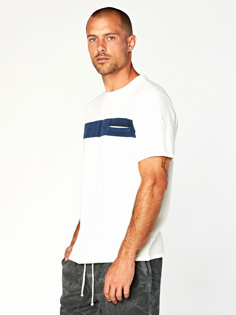 Laramie Bold Stripe Pocket Tee Mens Tops Threads 4 Thought