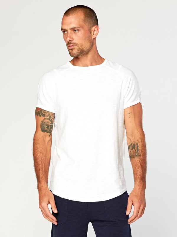 Ezra Slub Raglan Mens Tops Threads 4 Thought S White