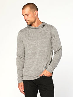 Long Sleeve Triblend Hoodie Mens Tops Threads 4 Thought S Heather Grey