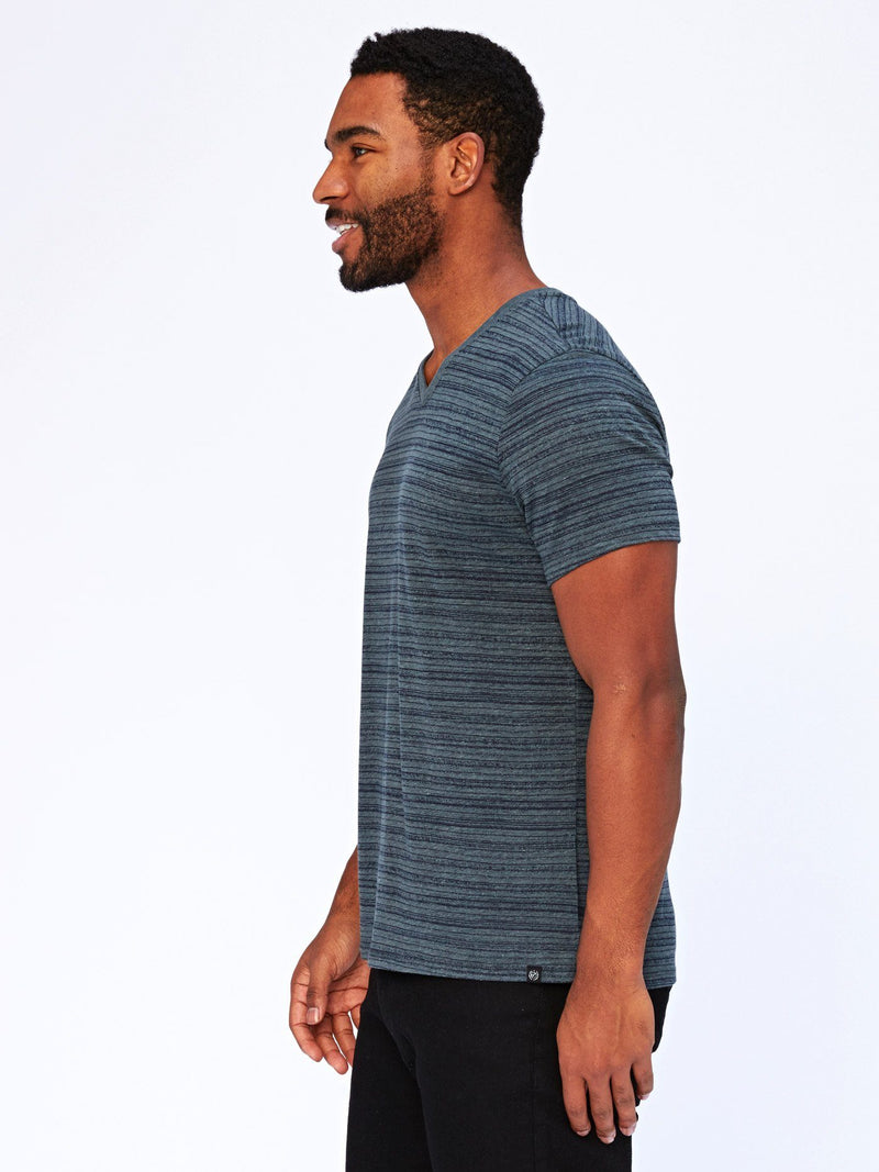 Dirt Road Stripe V-Neck Mens Tops Threads 4 Thought