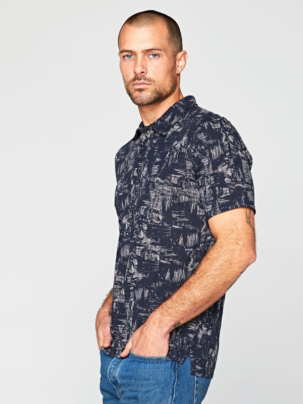 James Dark Static Print Polo