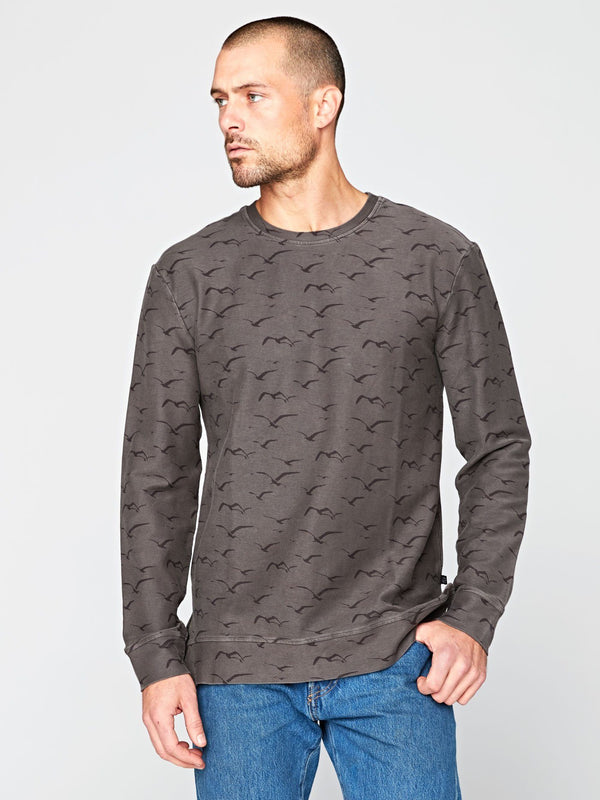 Westward Printed Sweatshirt Mens Outerwear Sweatshirt Threads 4 Thought S Graphite